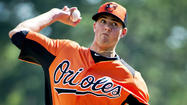 FORT MYERS, Fla. -- Orioles pitching prospect Kevin Gausman struggled early but settled in his second inning of work Thursday, striking out major leaguers Chris Parmelee and Trevor Plouffe on a pair of 96 mph fastballs in his second career spring appearance.