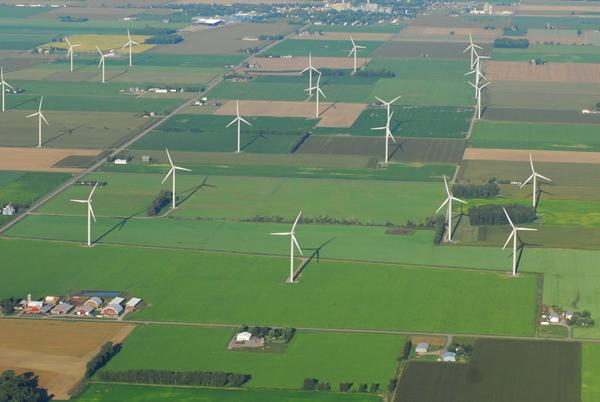 This 32-turbine wind farm in the Thumb of Michigan produces power for Great Lakes Energy, based in Boyne City.