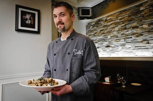 Salute Chef Dave Caudill has created a dish inspired by Rossini's Overture to William Tell: Peppercorn Crusted Shrimp with brandy cream, spinach, carmelized onions, sundried tomatoes, fresh mozzarella and garlic tossed with linguini.