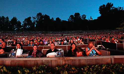 The place is packed for the opening of the Los Angeles Philharmonic's summer season at the Hollywood Bowl on Friday.