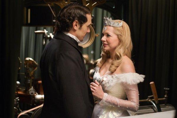 "James Franco stars with Michelle Williams in ""Oz: The Great and Powerful."""
