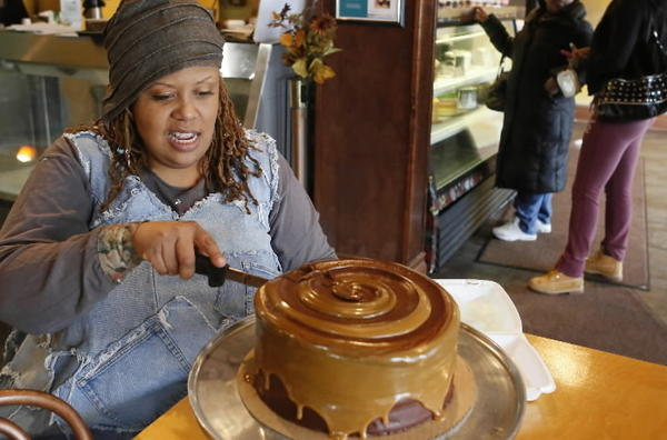 Stephanie Hart has brought sweetness to her neighborhood for eight years at Brown Sugar Bakery, in Chicago's Grand Crossing neighborhood.