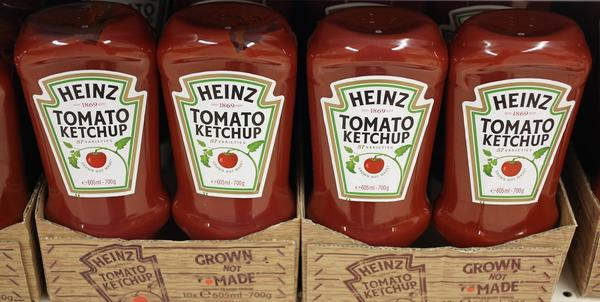 Bottles of H.J. Heinz Co. tomato Ketchup.