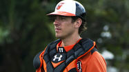 Orioles backup catcher Taylor Teagarden comes up sore