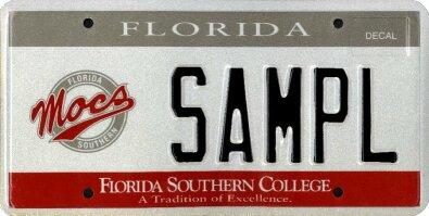 <b>Florida Southern College</b>  <br> Effective Oct. 1, 2002.<br> <br> <li> Total plates issued in 2012: 611 <li> Organizations receiving proceeds: Florida Southern College.