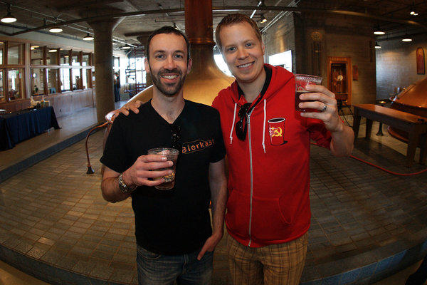 Los Angeles Ale Works founders John Rockwell and Kristofor Barnes.