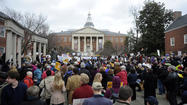Maryland's gun control debate drew more than 2,000 people to Annapolis on Friday as the House of Delegates took up the governor's bill to ban the sale of assault weapons and impose some of the nation's strictest licensing requirements.