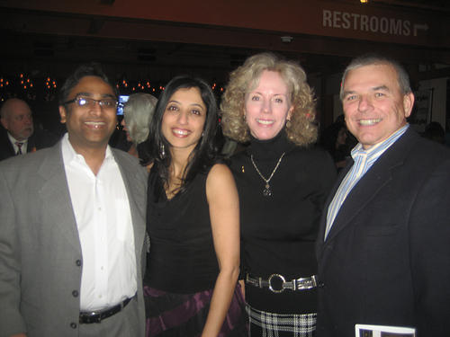 "(From left) Kartik and Suparna Damany, and Betsy and Sam Torrance were among guests are Habitat for Humanity's 8th annual ""A Toast to Hope"" fundraiser Feb. 21 at SteelStacks."