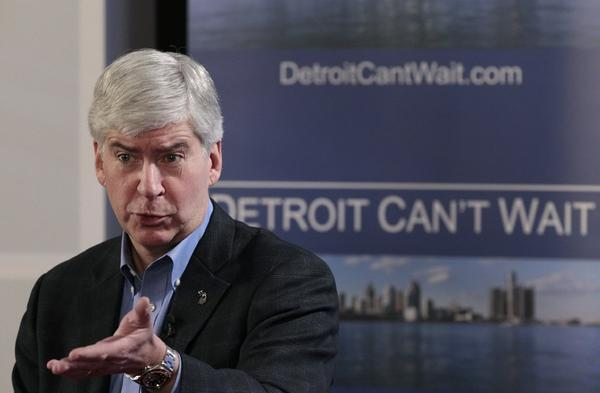 Michigan Gov. Rick Snyder announced he will appoint an emergency financial manager for the city of Detroit during a town hall meeting at Wayne State University. The city has 10 days to appeal Snyder's decision.