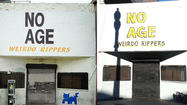 No Age's 'Weirdo Rippers' sign on the Smell mysteriously repainted