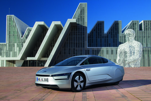The VW XL1 will get 261 mpg from a small turbodiesel engine paired with an electric motor and a seven-speed, dual-clutch gearbox. Its 1,753 curb weight is about half that of a family sedan.