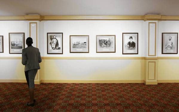 """Civil War photos are on display at the Mount Dora Community Center on Thursday, February 28, 2013. The exhibit is titled """"A Distant Thunder: Florida Photography in the Civil War Era."""