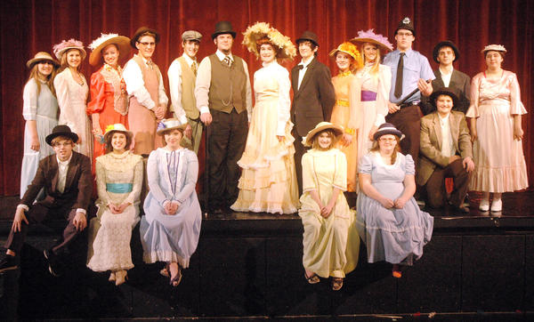 "The cast of the Charlevoix High School Performing Arts production of ""Hello, Dolly!"""
