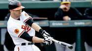 SARASOTA, Fla. – Orioles left fielder Nolan Reimold was removed from Friday's Grapefruit League game against the Pittsburgh Pirates after just two innings with soreness in his right, throwing shoulder.