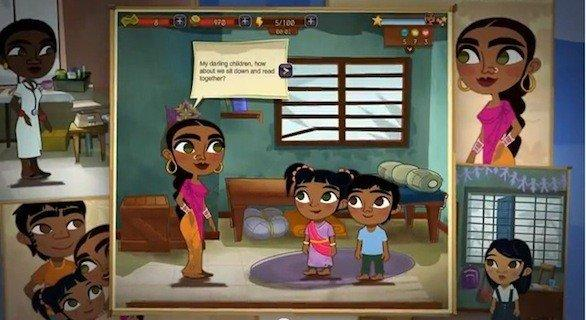 """Radhika is the dominant character in """"Half the Sky Movement: The Game,"""" designed to raise awareness of women's issues around the world."""