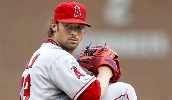 Angels left-hander C.J. Wilson finished the 2012 season with a 10-13 record with a 3.83 ERA over 202.1 innings pitched.