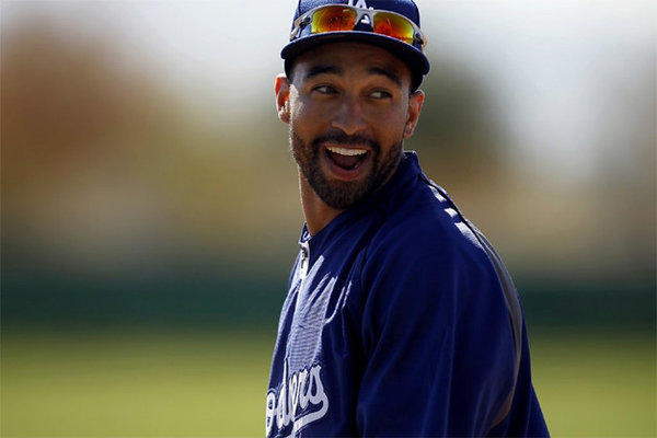 Matt Kemp went 0-for-2 with a groundout and a strikeout in his first appearance this spring.