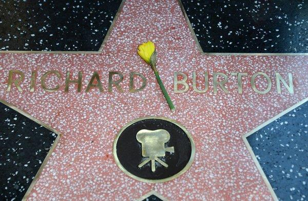 "The late Richard Burton gets a star on the Hollywood Walk of Fame. The star was unveiled Friday as part of the 50th anniversary celebrations for the movie ""Cleopatra"" and is located beside that of costar Elizabeth Taylor."