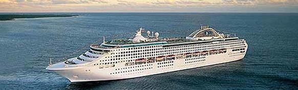 The Princess Cruises Sea Princess sails from Port Everglades.