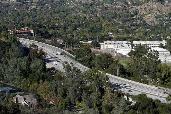 ARCHIVE PHOTO: La Canada High School can be seen to the right of the 210 (Foothill) Freeway.
