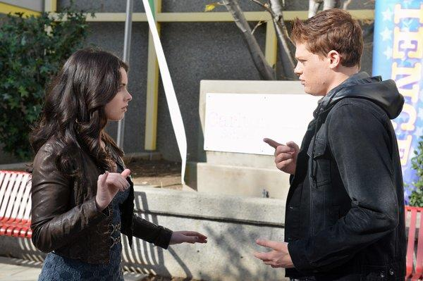 "Vanessa Marano, Sean Berdy in ""Switched at Birth"" at 8 p.m. on ABC Family"