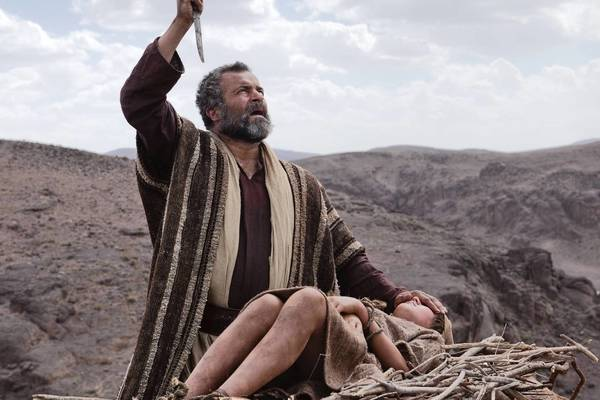 "Gary Oliver is Abraham and Hugo Rossi is his son Isaac in ""The Bible."""