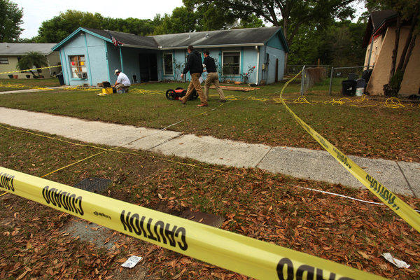 A Florida man was feared dead after a sinkhole suddenly opened up under the bedroom of his suburban Tampa, Fla., home and swallowed him, police and fire officials said.