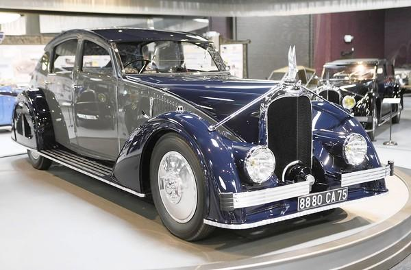 When Pebble Beach Concours d'Elegance hosted Voisin as the featured marque in 2006, it provoked a frenzied reaction among car collectors. Above, a 1935 Voisin Type C25 Aerodyne on display at the Mullin Automotive Museum in Oxnard.