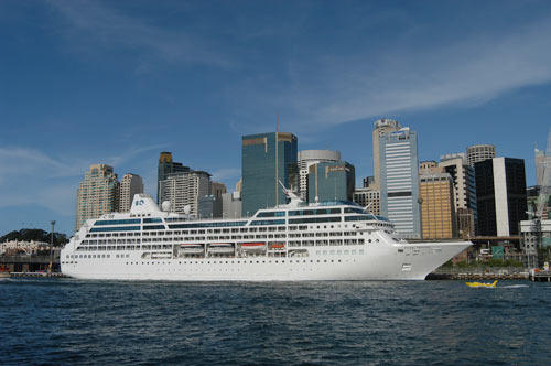 The Princess Cruises Pacific Princess sails from Port Everglades.