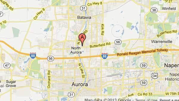 200 block of Laurel Drive in North Aurora.
