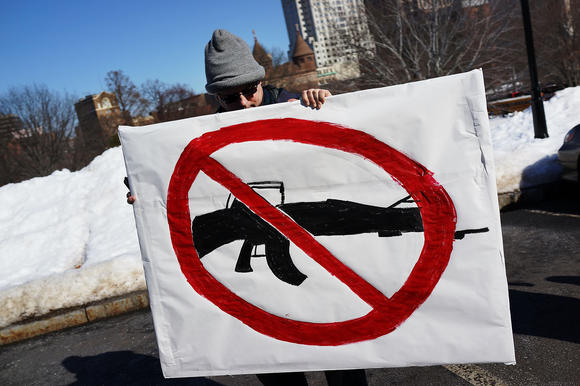 Rally Calling For Safer Gun Legislation Held In Hartford