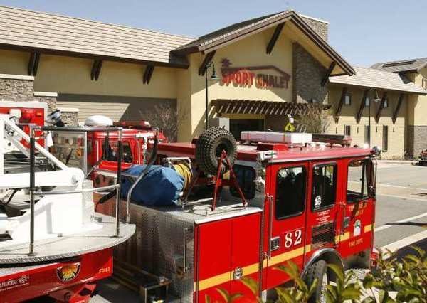 Los Angeles County Fire responded to an explosion at Sports Chalet in La Cañada Flintridge.