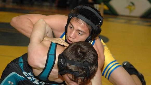 Brawley Union High's Vinny Elizalde (top).
