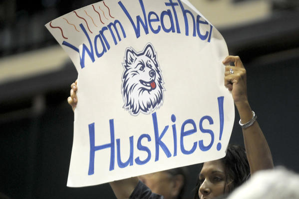 There seemed to be more UConn women fans than USF Bulls fans at the University of South Florida Sun Dome in Tampa on Saturday afternoon where the Huskies defeated South Florida 85-51.