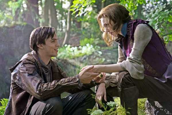 Left to right: Nicholas Hoult as Jack and Eleanor Tomlinson as Isabelle in New Line Cinema's and Legendary Pictures' action adventure 'Jack the Giant Slayer,' a Warner Bros. Pictures release.