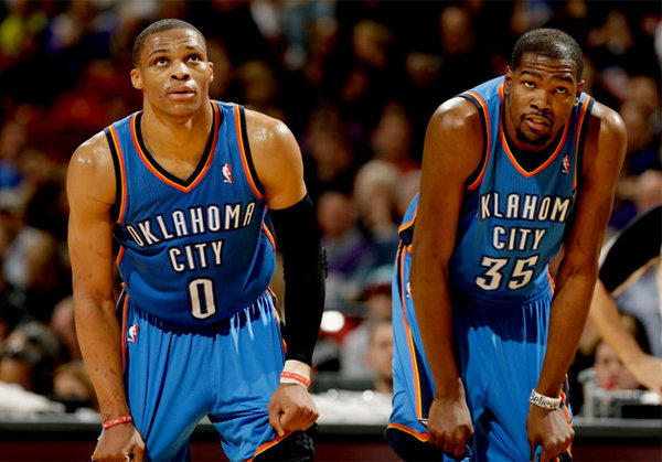 Oklahoma City outscores opponents by nearly 12 points per 48 minutes when Russell Westbrook and Kevin Durant are both on the court.