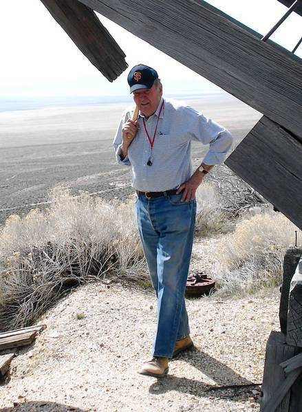 John Livermore, in his late 80s, at an abandoned mine in Nevada. He was named to the Mining Hall of Fame in 2000.