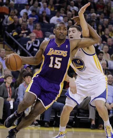 Metta World Peace and Klay Thompson
