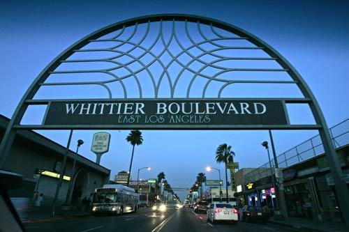The arch is an iconic structure on Whittier Boulevard in East Los Angeles, which is an important thoroughfare in the development of the Latino community. There is an effort under way to redevelop blighted areas of the historic boulevard.