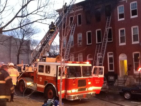 City firefighters responded to a blaze in the 1700 block of N. Broadway on Sunday morning. One person was found dead in the fire.