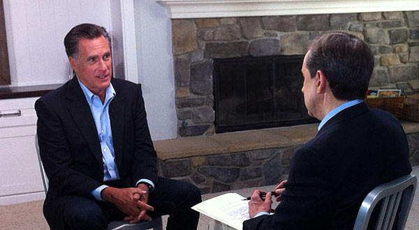 "Former Republican presidential candidate Mitt Romney on ""Fox News Sunday"" with Chris Wallace."