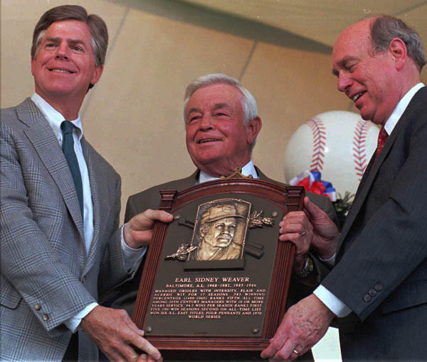 Earl Weaver was elected to the Baseball Hall of Fame on March 5, 1996. His induction took place Aug. 4, 1996.