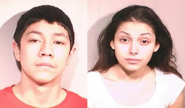 Victor Javier Salinas-Corona, 17, and Aurora Escamilla, 19. Zion police photos