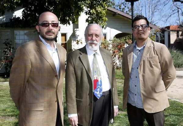 From left, Arthur Pogosyan, M.D., Noobar Janoian, M.D., and Larry Fernandez, a clinical social worker, will run All For Health, Health For All out of the Cedar House in Glendale. The facility is scheduled to open April 1.
