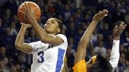 A'dia Mathies, the reigning SEC Player of the Year, led UK Hoops to a 78-65 victory over conference champions Tennessee in her final game at Memorial Coliseum. She had 16 points (matched by teammate Jennifer O'Neill) as well as four rebounds and four assists in her Senior Day performance.