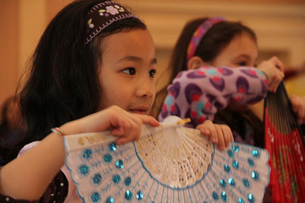 Children participate in a Chinese Dance Workshop presented by Yale's Phoenix Dance Troupe Saturday at the Chinese Arts Festival being held at The New Haven Museum, 114 Whitney Ave.
