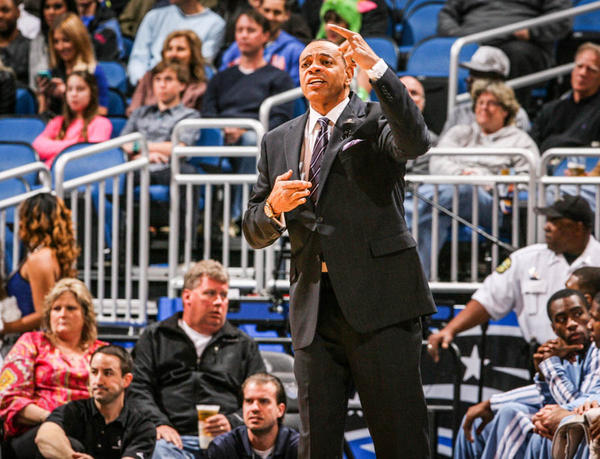 Memphis Grizzlies coach Lionel Hollins reacts during first quarter action of a game against the Memphis Grizzlies at Amway Center in Orlando, Fla. on Sunday, March 03, 2013. (Joshua C. Cruey/Orlando Sentinel)