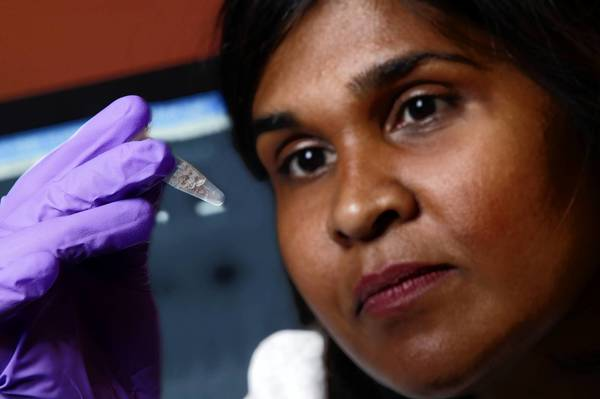 "Dr. Deborah Persaud, a virologist at Johns Hopkins Children's Center, is among the doctors who studied the girl's blood. Using the most sensitive tests available, they found tiny amounts of HIV ""particles"" but no virus capable of replicating, the research team reported."