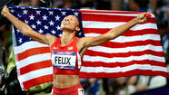 No. 10: Allyson Felix sprints to three gold medals in London