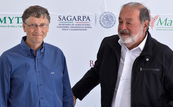 Billionaires Bill Gates and Carlos Slim